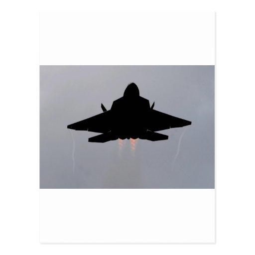 COMBATIENTE DE LA CAUTELA F-22 TARJETA POSTAL