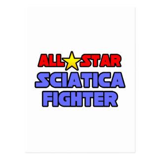 Combatiente de la ciática de All Star Postales
