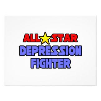 Combatiente de la depresión de All Star Invitación Personalizada