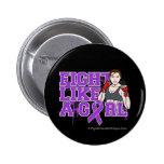 Combatiente de la enfermedad de Alzheimers - lucha Pin