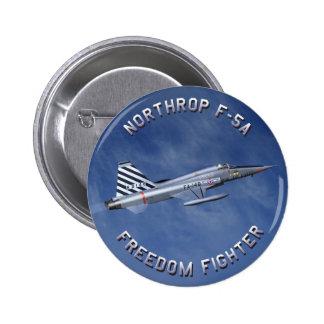 Combatiente de la libertad F-5 Pins