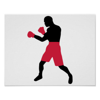 Combatiente del boxeo poster