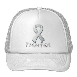 Combatiente del cáncer de pulmón gorros