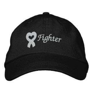 Combatiente del cáncer de pulmón gorra de béisbol bordada