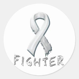 Combatiente del cáncer de pulmón pegatina redonda