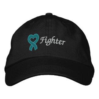 Combatiente del cáncer ovárico gorro bordado
