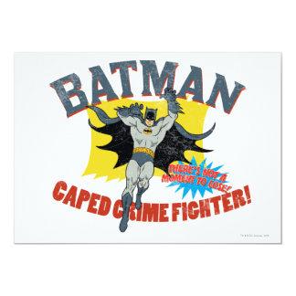 """Combatiente del crimen de Batman Caped Invitación 5"""" X 7"""""""