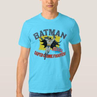 Combatiente del crimen de Batman Caped Playeras