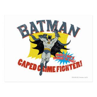 Combatiente del crimen de Batman Caped Postal