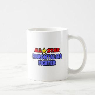 Combatiente del Fibromyalgia de All Star Taza De Café