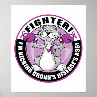 Combatiente del gato de la enfermedad de Crohn Impresiones