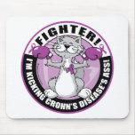 Combatiente del gato de la enfermedad de Crohn Alfombrillas De Ratón