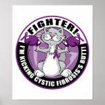 Combatiente del gato de la fibrosis quística impresiones