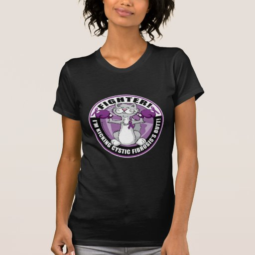 Combatiente del gato de la fibrosis quística camisetas
