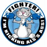 Combatiente del gato del ALS Esculturas Fotograficas