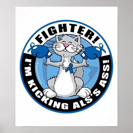 Combatiente del gato del ALS Posters