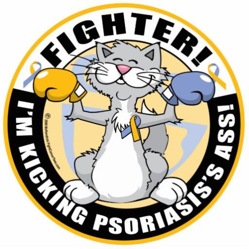 Combatiente del gato del psoriasis fotoescultura vertical