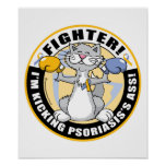 Combatiente del gato del psoriasis impresiones