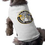 Combatiente del gato del psoriasis camiseta de perro