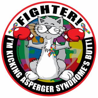 Combatiente del gato del síndrome de Asperger Fotoescultura Vertical