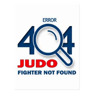 Combatiente del judo del error 404 no encontrado postal