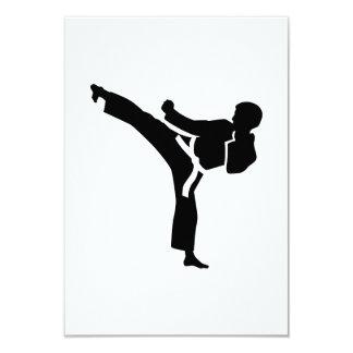 Combatiente del karate invitación 8,9 x 12,7 cm