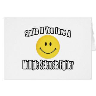 Combatiente del ms del amor de la sonrisa… tarjetas