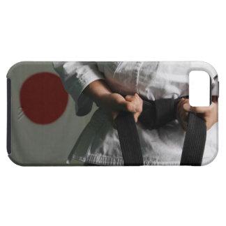 Combatiente del Taekwondo que tensa la correa Funda Para iPhone SE/5/5s
