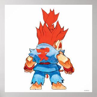 Combatiente estupendo II Turbo Akuma del rompecabe Poster