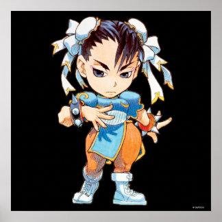 Combatiente estupendo II Turbo Chun-Li del rompeca Poster