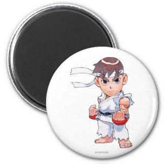 Combatiente estupendo II Turbo Ryu del rompecabeza Imán Redondo 5 Cm