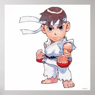 Combatiente estupendo II Turbo Ryu del rompecabeza Póster