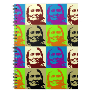 Combatiente Geronimo de la libertad del arte pop Libretas