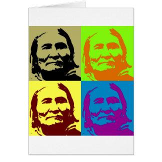 Combatiente Geronimo de la libertad del arte pop Tarjeta De Felicitación