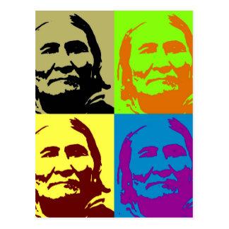 Combatiente Geronimo de la libertad del arte pop Tarjetas Postales