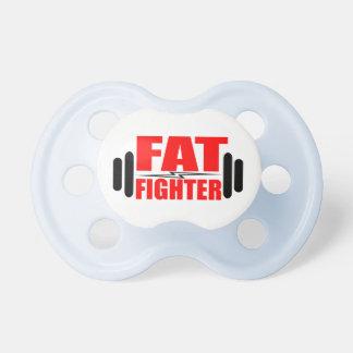 Combatiente gordo chupete de bebe