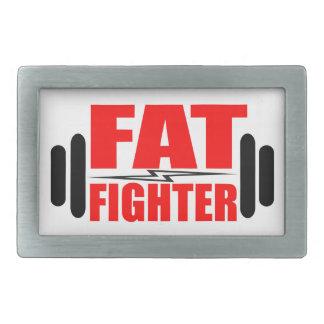 Combatiente gordo hebilla de cinturon rectangular