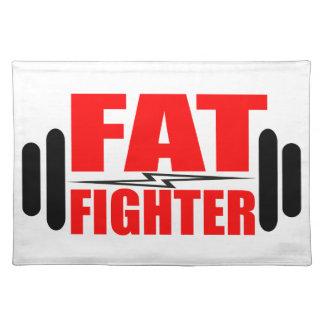 Combatiente gordo mantel individual
