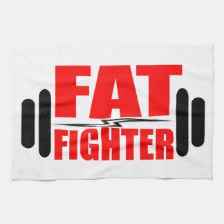 Combatiente gordo toallas de mano