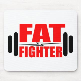 Combatiente gordo mouse pads