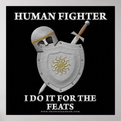 Combatiente humano: Para las hazañas Impresiones