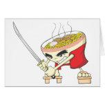 Combatiente japonés de la sopa de fideos con la es felicitacion