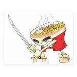 Combatiente japonés de la sopa de fideos con la es tarjeta postal