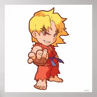 Combatiente Ken 2 del bolsillo Posters