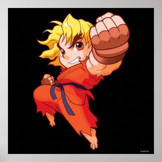 Combatiente Ken del bolsillo Póster
