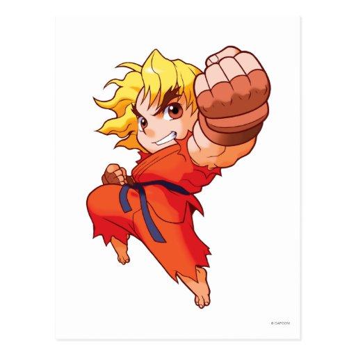 Combatiente Ken del bolsillo Tarjeta Postal