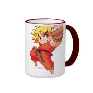 Combatiente Ken del bolsillo Tazas De Café