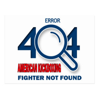 Combatiente kickboxing americano del error 404 no tarjetas postales