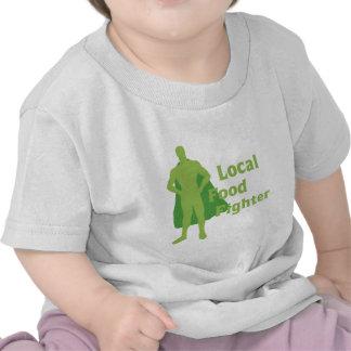 Combatiente local de la comida camiseta
