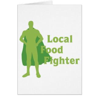 Combatiente local de la comida tarjeta de felicitación